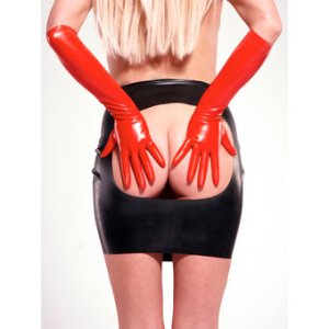 Rubber Girl Latex Wear Rubber Spanking Skirt