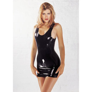 Sharon Sloane Latex Mini Dress